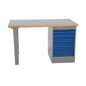 Worktable  1600x800mm w.drawer unit (5 drawers), vinyl, Intra