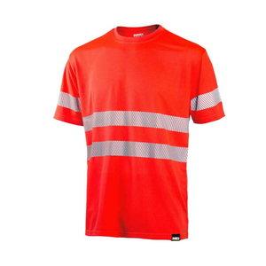 Kõrgnähtav T-särk 4235+, punane, Dimex