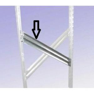 Diagonal spacer bar, depth 600mm, 1-2-3, Metalsistem