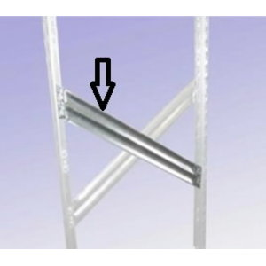 Diagonāle 600 mm, 1-2-3, Metalsistem