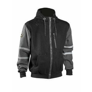 Džemperis  4331+, juoda/pilka 2XL