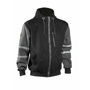 Jaka ar kapuci 4331+, melna/ pelēka XL, Dimex