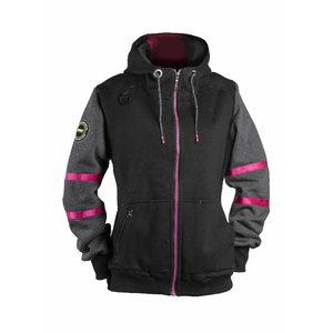 Džemperis  4332+, moteriškas, juoda, pilka XL, Dimex