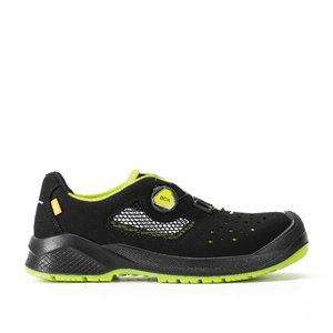 Safety sandals Slancio BOA Resolute, black/yell, S1P ESD SRC, Sixton Peak