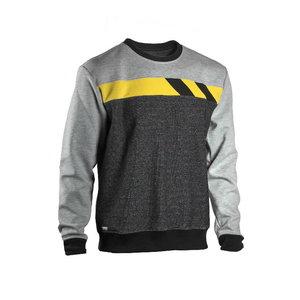 Sweatshirt 4558+, grey/light grey/yellow L, Dimex