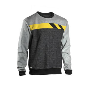 Sweatshirt 4558+, grey/light grey/yellow M, Dimex