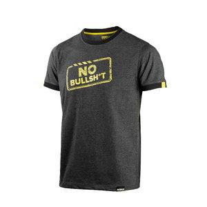 T-Shirt 4360+ No Bullsh*t, graphite grey, Dimex