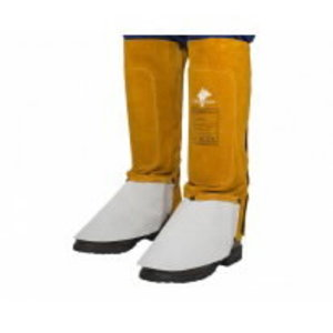 Golden Brown™ split cowleather welding spats (pair), 36 cm l, Weldas