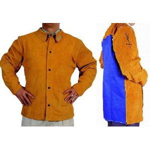 Keevitaja jakk nahast, seljal tule kaitse, 81cm L, Weldas