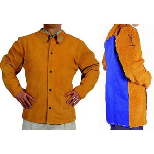Keevitaja jakk nahast, seljal tule kaitse, 76cm M, Weldas