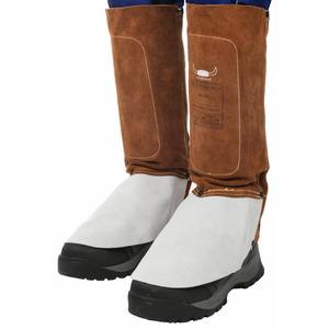 "36 cm (15"") length Lava Brown legging with spat (pair), Weldas"