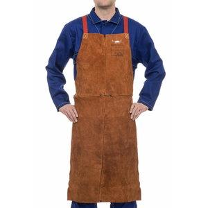 "Lava Brown bib apron 122 cm   60cm 48"", Weldas"