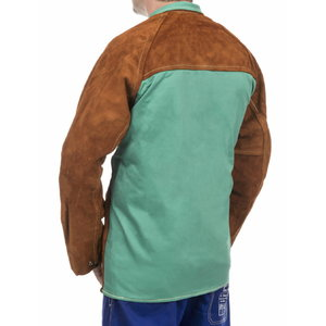 Metinātāju jaka Lava Brown 81 cm, cowleather/cotton L, Weldas