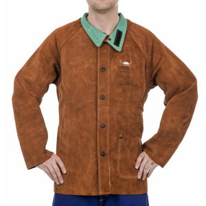 Keevitaja jakk nahast, Lava Brown, 81cm L, Weldas