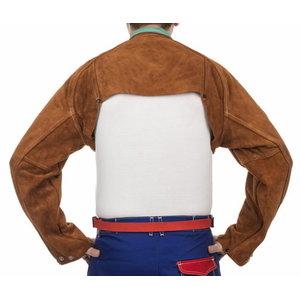 Lava Brown bib apron, leather 120 x 60 cm, Weldas