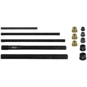 Pull rod, collar nut, adapter set, 13 pcs, KS Tools