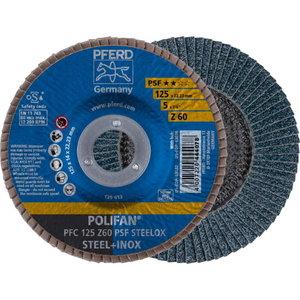 Lameļu slīpdisks 125mm Z60 PSF STEELOX PFC, Pferd