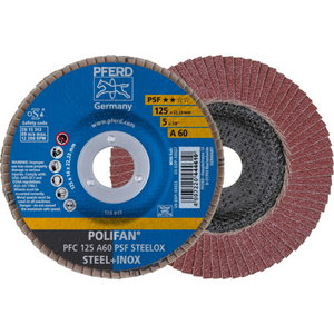 Flap disc 125mm A60 PSF STEELOX PFC, Pferd