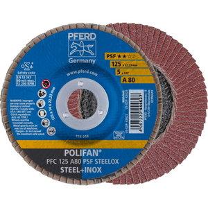 Lameļu slīpdisks 125mm A80 PSF STEELOX PFC stūriem, Pferd