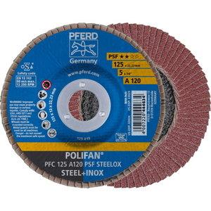 Lameļu slīpdisks PFC 125mm A120 PSF STEELOX PFC, Pferd