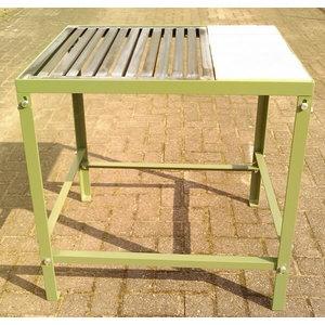 Metin. galds ar rezģi un akmeņu virsmu 63x85x80cm, Cepro International BV