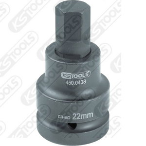 "1"" Impact bit socket for hexagon screws, 19mm, KS Tools"