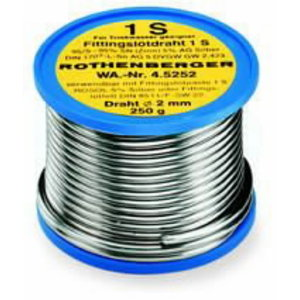 Lodalvas stieple Sn97Ag3, 2 mm, 250 g, Rothenberger