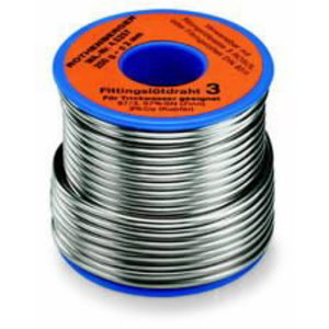 Sn 97 Cu 3 lodalvas stieple, 3mm, 250g, Rothenberger