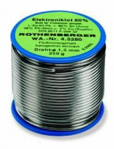 Joodistraat räbuga 1,5mm 250g ELECTRONIC, Rothenberger