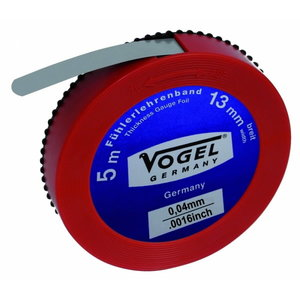 Thickness Gauge Foil, spring steel, 0.04 mm / .0016 inch, Vögel