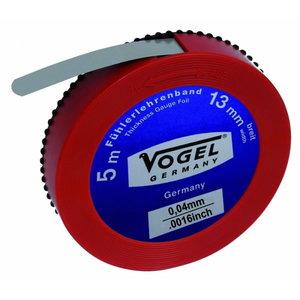 Thickness Gauge Foil, spring steel, 0.04 mm / .0016 inch, Vögel