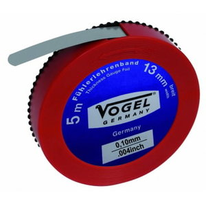 Thickness Gauge Foil, spring steel, 0.10 mm / .004 inch, Vögel