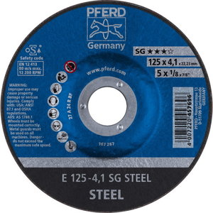 Metallilihvketas 125x4,1mm SG STEEL, Pferd