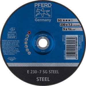 Metallilihvketas 230x7,2mm SG STEEL, Pferd