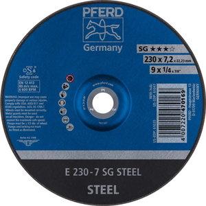 Шлифовальный диск для стали 230x7,2x22 A24R SG-E, PFERD