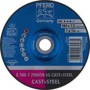 Шлифовальный диск по металлу 178x7,2x22 A30S SG, PFERD