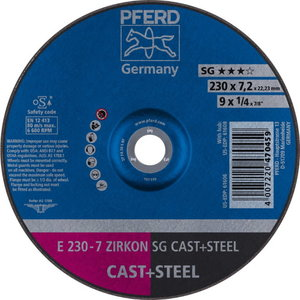 Grinding wheel E 230-7ZA 30 S SG 22,23, Pferd