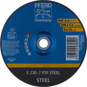 Šlifavimo diskasi 230x7,2mm PSF Steel, Pferd