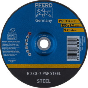 Metallilihvketas 230x7,2mm PSF Steel, Pferd
