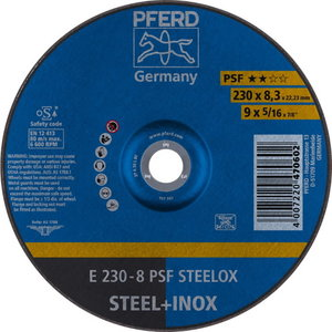 INOX lihvketas 230x8x22 A30M PS-F, Pferd