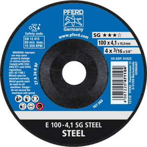 Metāla slīpdisks 1100x4,1/16mm SG STEEL, Pferd