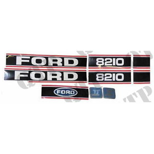 Decal Ford 8210 Force 2 Red & Black, Quality Tractor Parts Ltd