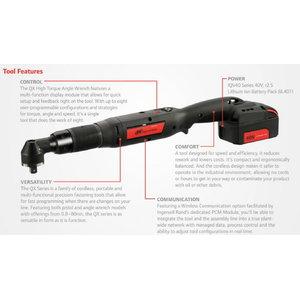 Akumulatora angle wrench 12,0-80 Nm QXC5AT80PS08, Ingersoll-Rand