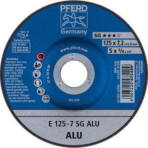 Slīpdisks alumīnijam 125x7,2mm SG ALU, Pferd