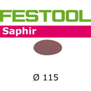 Slīpdiski SAPHIR / STF-D115/0 / P80 - 25 gab, Festool