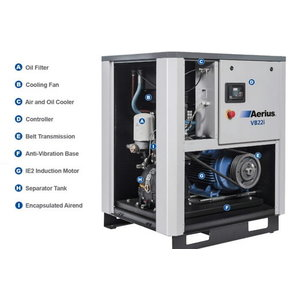 Skrūves kompresors 11kW VB11i-8, Aerius