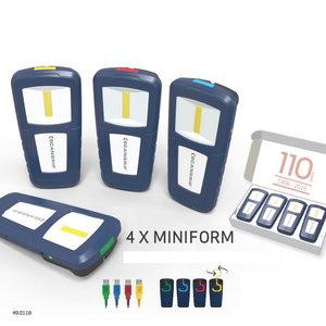 Nešiojamų LED lempų MINIFORM 4vnt. dirbtuvių rinkinys, Scangrip