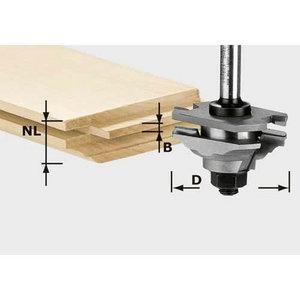 Profilētā atsperu frēze HW, kāts 8 mm  HW S8 D46 x D12-FD, Festool
