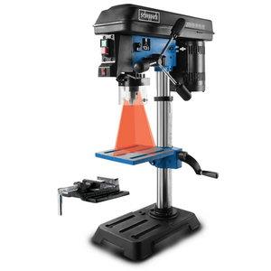 Bench drill DP16SL with cross laser and vise, Scheppach