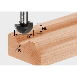 Profile cutter HW, S8, R12,7, Festool